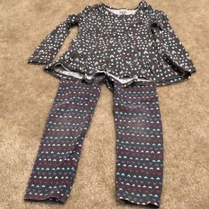 Jumping Beans hearts outfit 5T